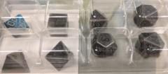 Solid Metal Dark Metal Polyhedral 7-Set (CHX27028)