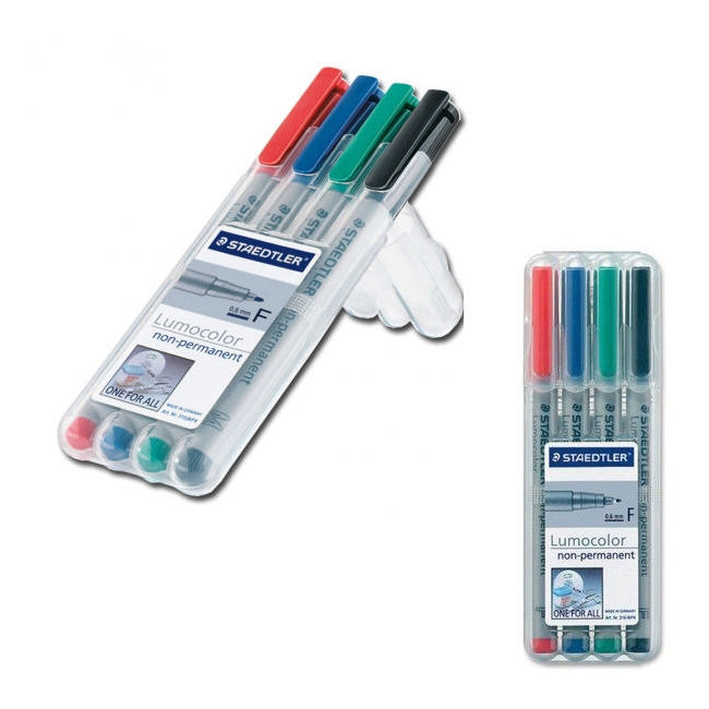Staedtler Water Soluble Markers: 4 pack