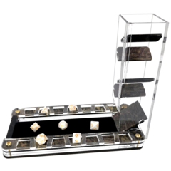 Deluxe Dice Tray and Colour Lux Dice Tower: Nebula Stardust