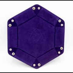 Critical Hit Collectibles: Hexagon Dice Tray - Dark Purple