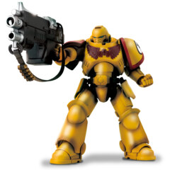 Imperial Fists Intercessor with Auto Bolt Rifle and Auxiliary Grenade Launcher