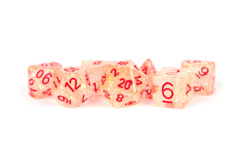 16mm Resin Flash Dice Poly Set: Red (7)