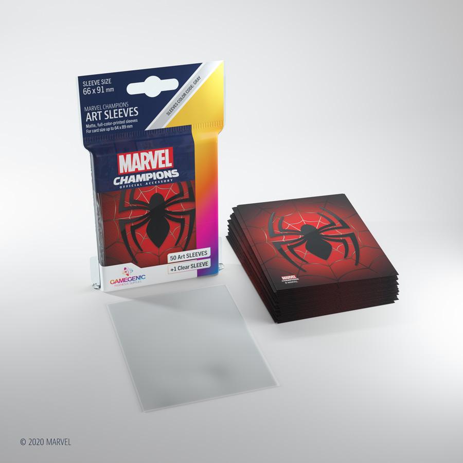 Marvel Champions Art Sleeves - Spiderman
