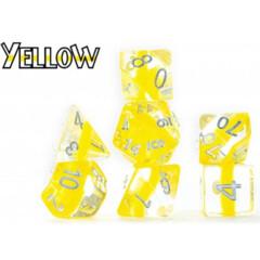 Neutron Dice: Yellow (7 Polyhedral Dice Set)