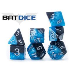 Halfsies Dice: Bat (7 Polyhedral Dice Set)
