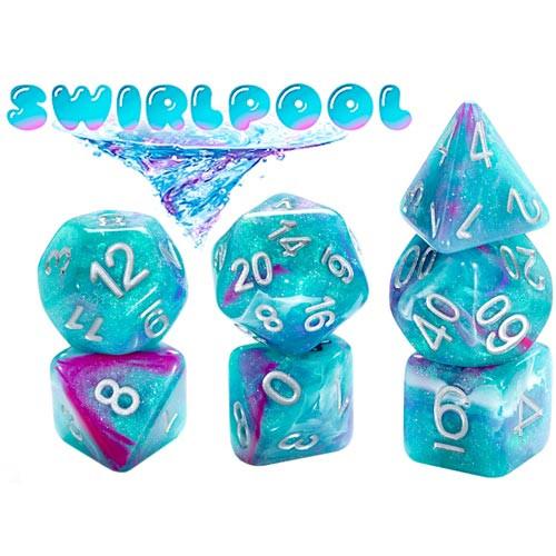Aether Dice: Swirlpool (7 Polyhedral Dice Set)