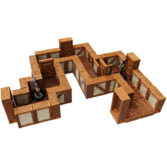 WarLock Tiles: Expansion- 1 in Town & Village Straight Walls