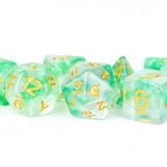 Unicorn Resin 16mm Polyhedral Dice Set: Icy Everglades