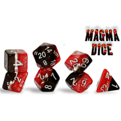 Supernova Dice: Magma (7 Polyhedral Dice Set)