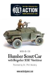 Humber Scout Car- Armoured car with Brigadier J.O.E. Vandeleur