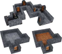 WarLock Tiles: Expansion- 1 in Dungeon Straight Walls