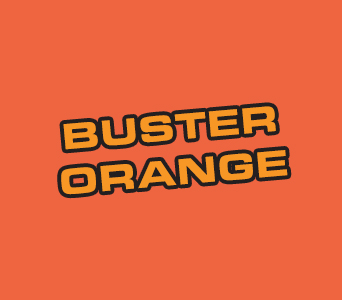 Acrylic: Buster Orange