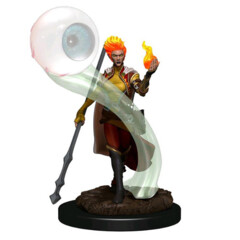 D&D Prepainted Premium Miniatures: Female Fire Genasi Wizard- W6