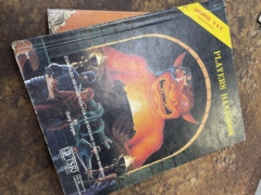 Advanced Dungeons and Dragons 1st Edition: Players Handbook  Cover 1