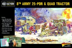8th Army 25-PDR and Quad Tractor
