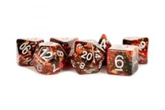 16mm Eternal Resin Polyhedral Dice Set: Fire (7)