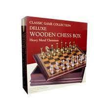 Chess Set - Deluxe Chess Box - Heavy Metal Chessmen