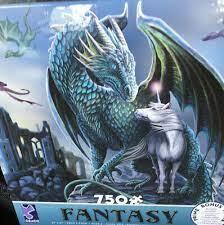 Puzzle 750ct - Fantasy - Dragon Unicorn