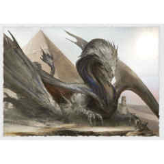 Art Matte Sleeves - Sphinx Dragon - Standard Box Sleeves - 100ct