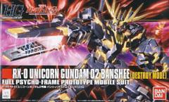 RX-0 Unicorn Gundam Banshee (Destroy Mode) Full Psycho-Frame 1/144