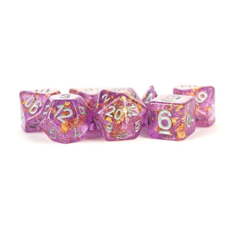 7 Count 16mm - Purple with Gold Foil