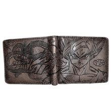 Bi Fold Wallet - Dragon Ball - Goku and Shenron - Dark Brown