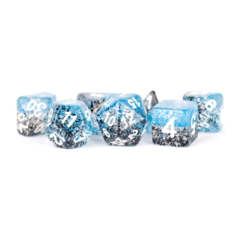 7 Count 16mm - Particle Dice - Blue / Black