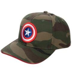 Captain America Camo Snapback Hat
