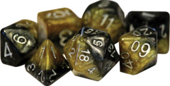 Gate Keeper Dice - Halfsies - Black and Gold