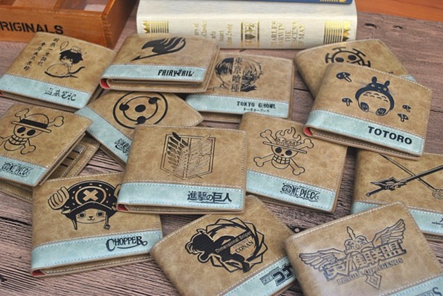 2 Tone Wallet: One Piece Flame