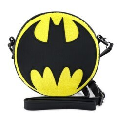 LOUNGEFLY - DC COMICS BATMAN 80TH ANNIVERSARY CHENILLE CANTEEN BAG
