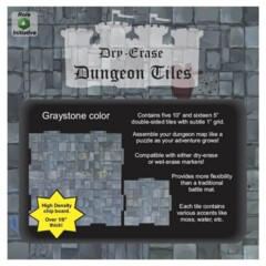 Dungeon Tiles - Dry Erase - Graystone: Combo Pack