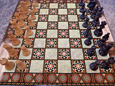 Chess Set - 2.75in Black Lardy with Mosaic Board