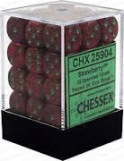 12 12mm Strawberry Speckled D6 Dice Set - CHX25904
