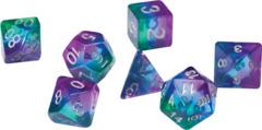 Sirius Dice - Blue - Aurora Semi Transparent Resin