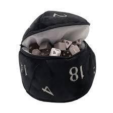Dice Bag - D20- Black