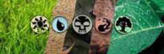 Island Mana Symbol Enamel Pin