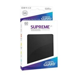 Ultimate Guard Supreme UX Sleeves Japanese Size Black Non-Matte 60ct