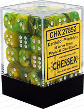 Dandelion w/White 36 Vortex 12mm D6 Dice Block CHX27852
