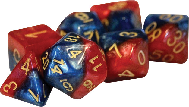 Gate Keeper Dice - Halfsies - Super Blue and Heroic Red