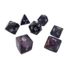 Gemstone: 7 Piece Dice Set - Purple Stripe Agate