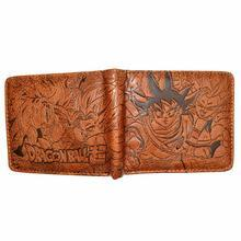 Bi Fold Wallet - Dragon Ball - Goku, Gogeta - Brown