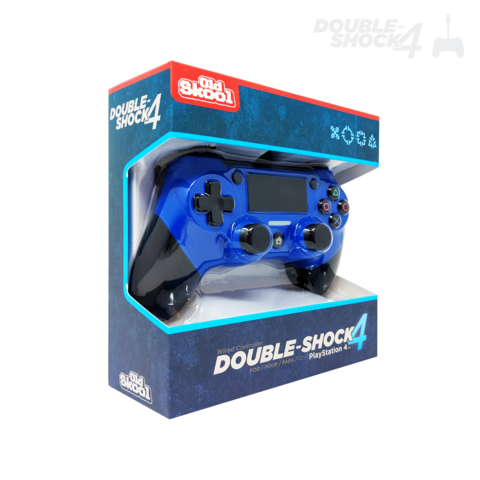 Old Skool Double-Shock 4 - Wired PS4 Controller - Blue