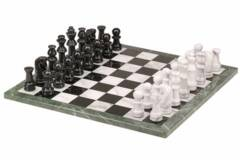 Chess Set - Marble - Black and White