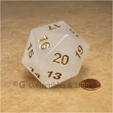 55MM Jumbo D20 Dice (Translucent White)