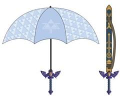 Legend Of Zelda Triforce Sword Umbrella Blue
