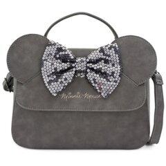 Loungefly - Disney Grey Minnie Mouse Sequin Bow Crossbody Bag