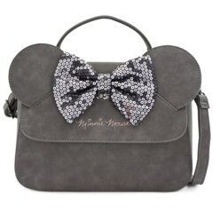 Loungefly - Disney Grey Minnie Mouse Sequin Bow Crossbody Bag