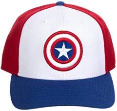 Captain America Comic Book Superhero Snapback Hat