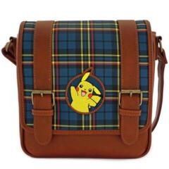 Loungefly X Pokemon Pikachu Plaid Faux Leather Crossbody Bag